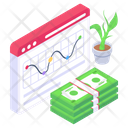 Business Website Financial Website Business Analytics Icon