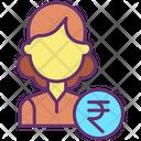Financial Woman Financier Investor Icon