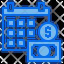 Calendar Money Coin Icon