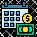Financial Year Calendar Money Icon