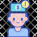 Financially Conscious Financially Crisis Financial Issue Icon