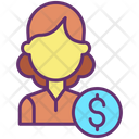 Iwomen Dollar Financier Accountant Icon