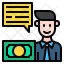 Financier Man Chat Box Icon