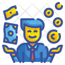Financier Businessman Currency Icon