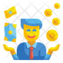 Businessman Currency Investor Icon