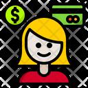 Financier Woman Infomation Finance Icon