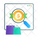 Shopping Website Online Buying Ecommerce Icon