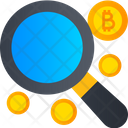 Find Bitcoin Search Bitcoin Cryptocurrency Icon