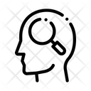 Magnifier Glass Man Icon