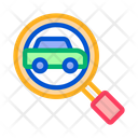 Car Search Map Icon