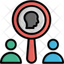 Find Employee Find User Magnifier Icon