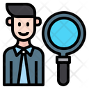 Find Employee Recruiter Job Icon