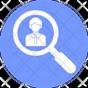 Find Employee Find Person Employment Icon