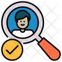 Friends Magnifier People Icon