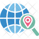 Find Location Global Location Search Globe With Magnifier Icon