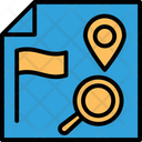 Find Location Gps Navigation Gps With Magnifier Icon