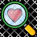 Find Love Search Love Heart Search Icon