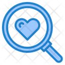 Find Love Search Magnify Glass Icon
