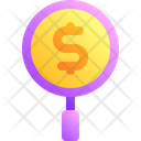 Search Money Coin Icon