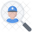 Plumber Search Man Icon