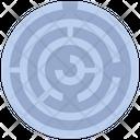 Find Solution Complex Complicate Icon