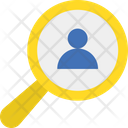 Find User Magnifier Magnifying Icon