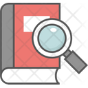 Book Magnifying Glass Book Search Digital Library Icon