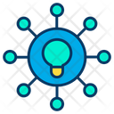 Finding Idea Innovation Networking Icon
