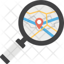 Finding Location Gps Navigating Icon