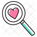 Finding Love Love Search Heart Search Icon