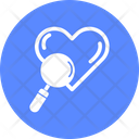 Finding Love Heart Heart Search Icon