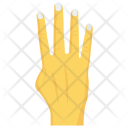 Four Interactive Finger Icon