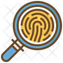 Finger Print Searching Icon