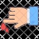 Finger Cut Hand Cut Finger Injury Icon