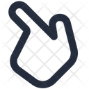 Finger Diagonal Icon