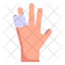 Hand Injury Fingers Hurt Fractured Fingers Icon