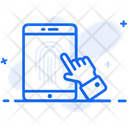 Finger Lock Mobile Lock Mobile Security Icon