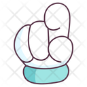 Finger Pointing Hand Gesture Hand Indicator Icon