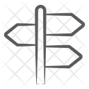 Finger Post Guidepost Signpost Icon