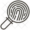 Finger Print Magnifying Glass Detective Icon