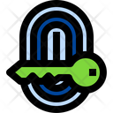 Finger Print Secure Security Icon