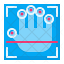 Finger Print Biometric Security Finger Gesture Icon