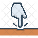 Finger Push Icon