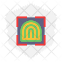 Finger Scan Security Smarthome Icon