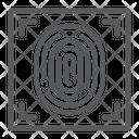 Fingerprint Id Security Icon