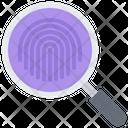 Fingerprint Finger Magnifier Icon
