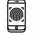 Fingerprint Phone Hacker Icon