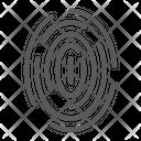 Fingerprint Scan Thumbprint Icon