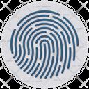 Fingerprint Authentication Biometric Identification Icon