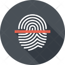 Fingerprint Scan Thumb Icon